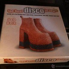 CDs de Música: THE BEST DISCO IN TOWN - 5 CD BOX . Lote 43647900