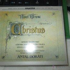 CDs de Música: LISZT FERENC CHRISTUS ORATORIO HUNGAROTON 3 CD'S CAJA ESTUCHE Y LIBRETO COMPLETO. Lote 43723386