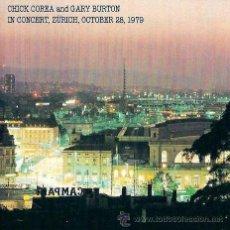 CDs de Música: CHICK COREA & GARY BURTON IN CONCERT - ZÜRICH, OCTOBER 28, 1979. Lote 43841267