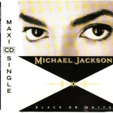 CDs de Música: MICHAEL JACKSON - CD MAXI SINGLE - 3 TRACKS - BLACK OR WHITE + 2 - EPIC 1991. Lote 43944784