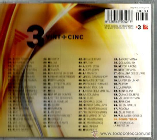 CDs de Música: CD 3 VINT+CINC : GERARD QUINTANA, QUIMI PORTET, KITFLUS, GRINGOS, PANXULO, LA CASA AZUL, AMARGOS,ETC - Foto 2 - 43945133