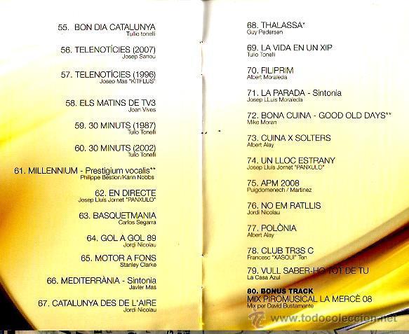 CDs de Música: CD 3 VINT+CINC : GERARD QUINTANA, QUIMI PORTET, KITFLUS, GRINGOS, PANXULO, LA CASA AZUL, AMARGOS,ETC - Foto 5 - 43945133