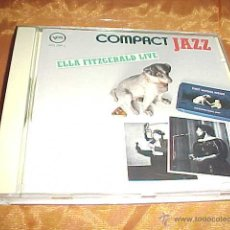 CDs de Música: ELLA FITZGERALD. LIVE. COMPACT JAZZ. CD EDICION ALEMANA. Lote 44099545