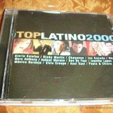 CDs de Música: TOP LATINO 2000. GLORIA ESTEFAN. RICKY MARTIN. CHAYANNE. JON SECADA .... CD EDICION EXTRANJERA. Lote 44099619