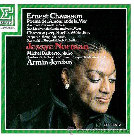 Ernest Chausson Jessye Norman Soprano Poè Vendido En