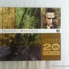 CDs de Música: CD YEHUDI MENEUHIN-LEGENS 20TH CENTURY. Lote 44208334