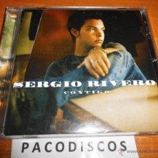 CDs de Música: SERGIO RIVERO CONTIGO CD ALBUM LORENA TEMA PELICULA COLEGAS EN EL BOSQUE OPERACION TRIUNFO. Lote 44644073