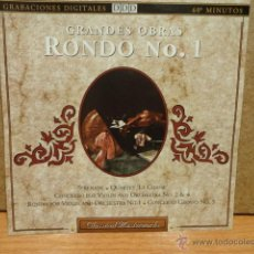 CDs de Música: GRANDES OBRAS. RONDO Nº 1. CD / POINT - 1992. 13 TEMAS. CALIDAD LUJO.. Lote 44807812