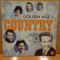 CDs de Música: GOLDEN AGE OF COUNTRY. DOBLE CD / ZESTIFY - 2011. 32 TEMAS. CALIDAD LUJO.. Lote 44808160