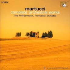 CDs de Música: MARTUCCI: COMPLETE ORCHESTRAL WORKS - THE PHILARMONIA, FRANCESCO D'AVALOS (COFRE, 4 CD). Lote 44854562