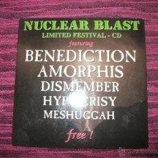 CDs de Música: CD - NUCLEAR BLAST - LIMITED FESTIVAL - BENEDICTION - AMORPHIS - HYPOCRISY - MESHUGGAH. Lote 44865265