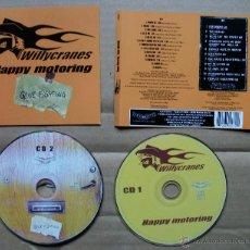 CDs de Música: WILLYCRANES - HAPPY MOTORING GONE FIGHTING - CD DOBLE. Lote 41129848