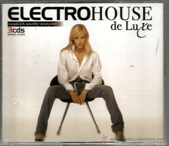 TRIPLE CD ELECTROHOUSE DE LUXE ( AEROSOUL, GRANT NELSON, TECHNOTRONIC, SPEKTRUM, ETC) (Música - CD's Techno)