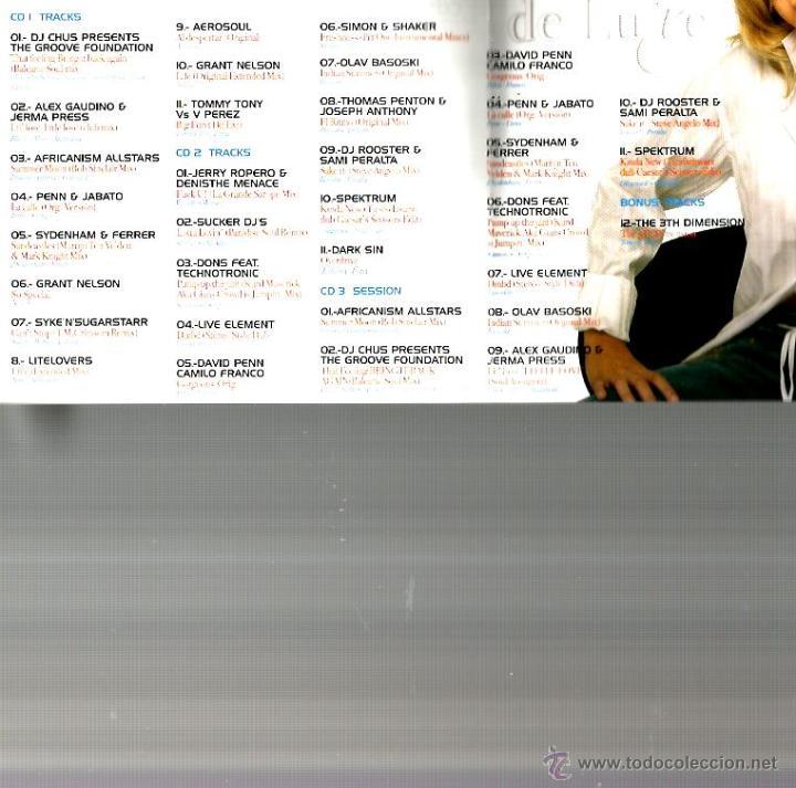 CDs de Música: TRIPLE CD ELECTROHOUSE DE LUXE ( AEROSOUL, GRANT NELSON, TECHNOTRONIC, SPEKTRUM, ETC) - Foto 2 - 44930676