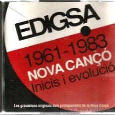 CDs de Música: DOBLE CD EDIGSA, NOVA CANÇO: INICIS I EVOLUCIÓ ( PAU RIBA, ELS DRACS, SISA, ELS 4 GATS, MARIA CINTA. Lote 44930738