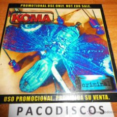 CDs de Música: KOMA CRIMINAL CD ALBUM PROMOCIONAL DE CARTON DEL AÑO 2000 CONTIENE 10 TEMAS HEAVY METAL ESPAÑOL. Lote 44964422