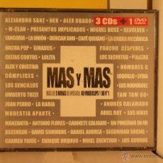 CDs de Música: MAS Y MAS - VARIOS - 3CDS+DVD. Lote 44974074