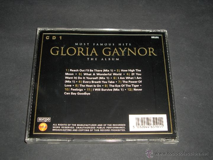 CDs de Música: 2 CD GLORIA GAYNOR MOST FAMOUS HITS THE ALBUM - Foto 2 - 44998641