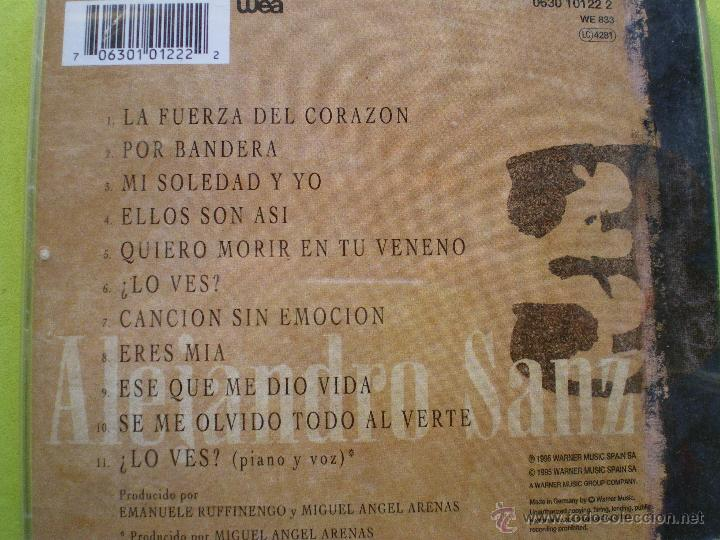 CDs de Música: ALEJANDRO SANZ 3 - CD ALBUM PEPETO - Foto 2 - 69641362