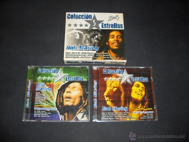2 CD BOB MARLEY - COLECCION 5 ESTRELLAS (Música - CD's Reggae)