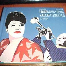 CDs de Música: LOUIS ARMSTRONG & ELLA FITZGERALD. LO MEJOR. EL PAIS ESTRELLAS JAZZ LIBRO + CD. Lote 143385684