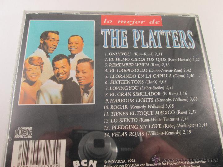 CDs de Música: CD-LO MEJOR THE PLATERS-ONLY YOU-1994-PERFECTO-14 TEMAS-DIVUCSA- - Foto 4 - 45096232
