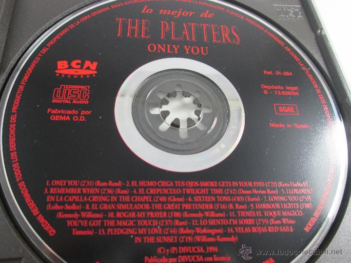 CDs de Música: CD-LO MEJOR THE PLATERS-ONLY YOU-1994-PERFECTO-14 TEMAS-DIVUCSA- - Foto 5 - 45096232