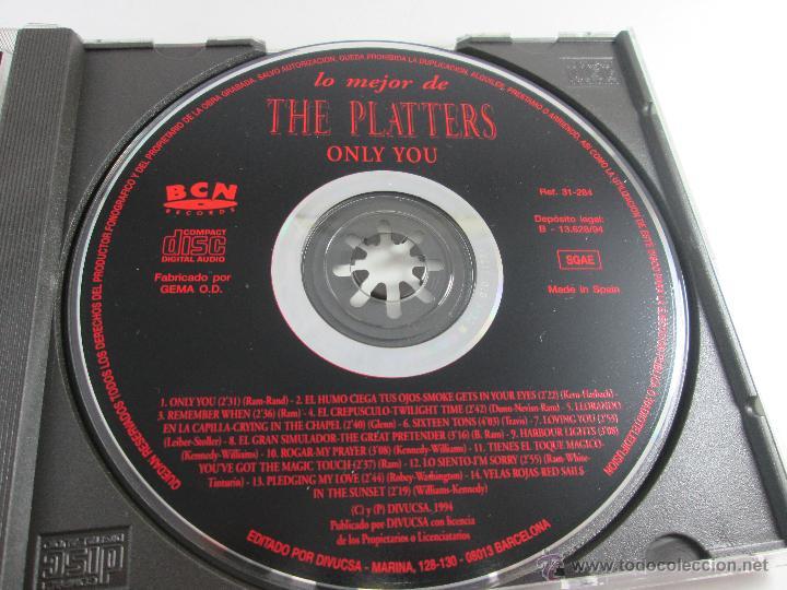 CDs de Música: CD-LO MEJOR THE PLATERS-ONLY YOU-1994-PERFECTO-14 TEMAS-DIVUCSA- - Foto 7 - 45096232