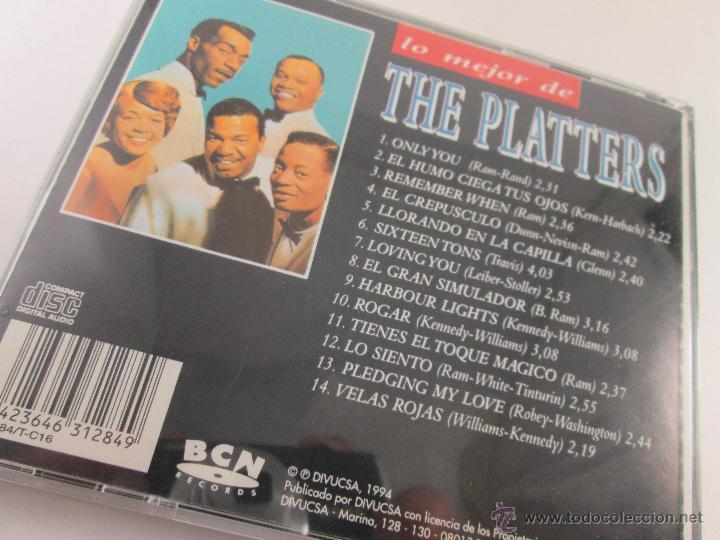 CDs de Música: CD-LO MEJOR THE PLATERS-ONLY YOU-1994-PERFECTO-14 TEMAS-DIVUCSA- - Foto 8 - 45096232