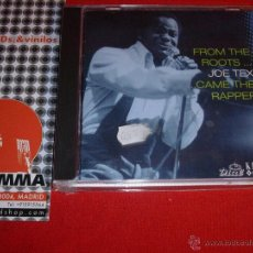 CDs de Música: JOE TEX FROM THE ROOTS ... CAME THE RAPPER COMPILATION UK 2002 CD NEW. Lote 45101439