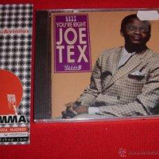 CDs de Música: JOE TEX YOU'RE RIGHT KENT SOUL 1995 CD NEW. Lote 45108358