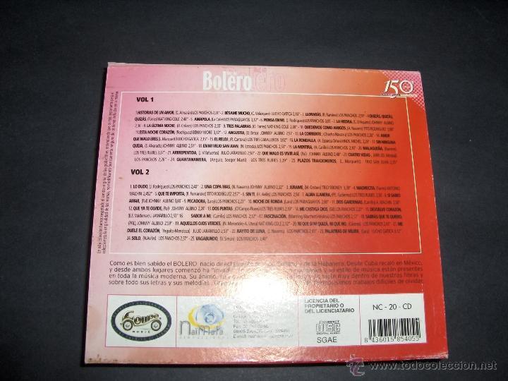 CDs de Música: 2 CD VOZ DE BOLERO 50 BOLEROS - Foto 2 - 45114071