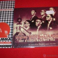 CDs de Música: ORIGINAL BLIND BOYS OF ALABAMA JUST A CLOSER WALK WITH THEE UK 2006 CD NEW. Lote 45154422