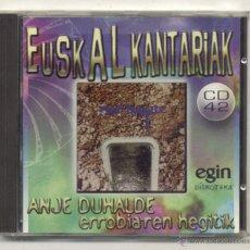 CDs de Música - CD ANJE DUHALDE ( ERROBI ) ERROBIAREN HEGITIK - 45224379