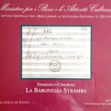 CDs de Música: CIMAROSA: LA BARONESSA STRAMBA - FRANCO CARACCIOLO, NAPOLI 1958 (CD+LIBRETO). Lote 45227588