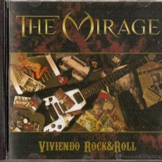 CDs de Música: THE MIRAGE CD VIVIENDO ROCK'N'ROLL,SPANISH 2006-WARCRY-SANGRE AZUL-SARATOGA. Lote 45322264