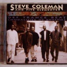 CDs de Música: STEVE COLEMAN AND FIVE ELEMENTS - DEF TRANCE BEAT (CD) 1995 BMG. Lote 45325573