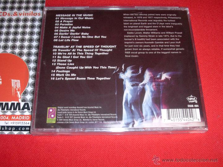 CDs de Música: THE O'JAYS Message In The Music And Travelin' At The Speed Of Thought CD NEW - Foto 2 - 45376540