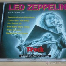 CDs de Música: LED ZEPPELIN - LIVE IN LONDON 1969 (CD) COMO NUEVO!!!. Lote 45414741