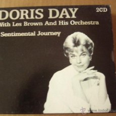 CDs de Música: DORIS DAY. WITH LES BROWN AND HIS ORCHESTRA. SENTIMENTAL JOURNEY. 2 CD.. Lote 45489614
