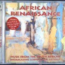 CDs de Música: AFRICAN RENAISSANCE VOL2. MÚSICA DE SUDÁFRICA. SABC HISTORIC RECORDINGS. DOBLE CD, AÚN PRECINTADO. Lote 27401890
