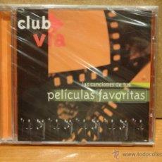 CDs de Música: LAS CANCIONES DE TUS PELÍCULAS FAVORITAS. CD / CLUB VÍA - PROMO. 10 TEMAS. PRECINTADO.. Lote 45647784