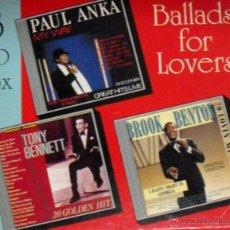 CDs de Música: ESTUCHE CON 3 CD'S, BALADAS, PAUL ANKA, TONY BENNETT Y BROOK BENTON, 58 TEMAS,. Lote 45651743