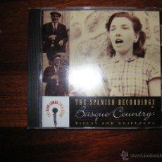 CDs de Música: BASQUE COUNTRY SONGS: GUIPUZCOA & VIZCAYA, CD DE IMPORTACION MADE IN USA. Lote 45656328