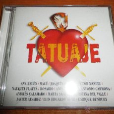 CDs de Música: TATUAJE CD ALBUM 1999 BUNBURY MARTA SANCHEZ MALU ANA BELEN LUIS EDUARDO AUTE ANTONIO VEGA 14 TEMAS. Lote 149805938