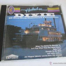 CDs de Música: Aº CD-HOOKED ON DIXIE-65 NON STOP DIXIELAND FAVOURITES-EMPORIO-1994-7 TEMAS-VER FOTOS.. Lote 45754732