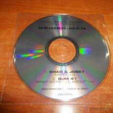 CDs de Música: SPIDERMAN CHAD & JOSEY / SUM 41 CD SINGLE PROMOCIONAL BANDA SONORA ORIGINAL 2 TEMAS. Lote 45769695