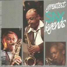 CDs de Música: GREATEST SAX LEGENDS-DEXTER GORDON + DON BYAS + BEN WEBSTER + COLEMAN HAWKINS + SONNY STITT.... Lote 45834309