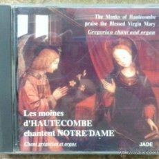 CDs de Música: CANTOS GREGORIANOS DE LOS MONJES DE HAUTECOMBE CANTADAS EN NOTRE DAME.. Lote 45932468