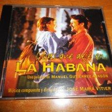 CDs de Música: COSAS QUE DEJE EN LA HABANA CD ALBUM BANDA SONORA COMPAY SEGUNDO JOSE MARIA VITIER 1997 15 TEMAS. Lote 46062162
